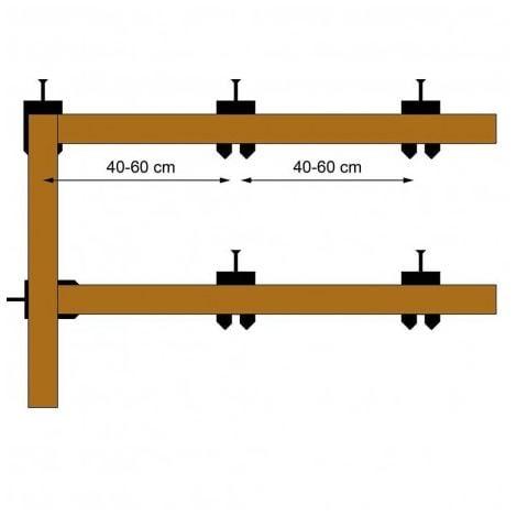 Mix de 200 cales fourchettes pour lambourdes de Terrasse bois