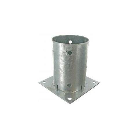 Support pied de poteau rond 140mm (14cm) à fixer galvanisé à chaud