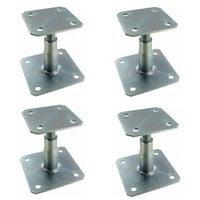 Pied de poteau réglable hauteur 100 à 150 mm APB100/150 SIMPSON Lot de 4