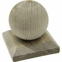 Chapeau Boule en bois - Dessus de poteau 7x7 cm