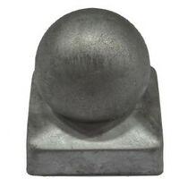 Chapeau Boule galvanisé - Dessus de poteau 7x7 cm Lot de 2