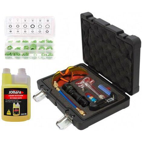 Kit de herramientas Deteccion de fugas de sistema de aire acondicionado ACC + Líquido detector + juntas tóricas 225 piezas