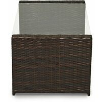 Evre Rattan Garden Furniture Weave Wicker Sofa Set Conservatory Set Brown Roma - Brown