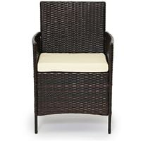 Evre Rattan Outdoor Garden Madrid Furniture Set Conservatory Patio Lounge - Brown with Cover