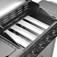 CosmoGrill 4+1 Pro Gas BBQ Barbecue Grill Inc. Side Burner- 93411 with cover - Black