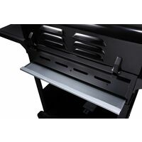 CosmoGrill 4+1 Large Outdoor Gas Barbecue BBQ Grill plus Side Burner W/Cover - Black