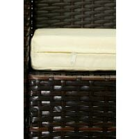 Evre Rattan Outdoor Garden Madrid Furniture Set Conservatory Patio Lounge - Brown with Cover - Brown