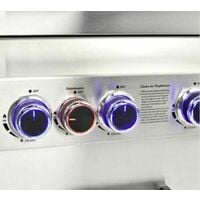 CosmoGrill Barbecue 6+2 Platinum Stainless Steel Gas Grill BBQ (Silver)