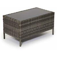 Evre Rattan Garden Furniture Set Patio Conservatory Indoor Outdoor 4 piece set table chair sofa (Grey) - GREY