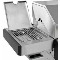 CosmoGrill Barbecue 4+2 Platinum Stainless Steel Gas Grill BBQ (Silver)