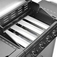 CosmoGrill Pro 4+1 Gas Burner Grill BBQ Barbecue Incl. Side Burner - Black - Black