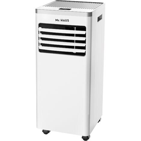 ARTIC-12 - Aire acondicionado portatil, enfriador movil de 7000 BTU/h, sistema SILENTBLOCKS, 1765 frigorias, 2,05kW, clase A, 3 en 1: refrigerador, ventilador y deshumidificador, ionizador y mando a distancia, para 20m²
