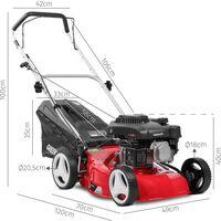 Cortacesped gasolina 132cc 4,5cv 410mm recogida 2-1– GREENCUT