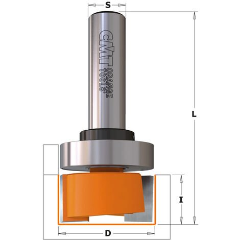 852.001.11B FRAISE À AFFLEURER AVEC ROULEMENT HW Z2 S=6,35 D=19,05X9,52X57