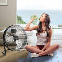 AREBOS Ventilateur de sol Ventilateur Souffleur Brasseur d'air 20 Pouces 120W - noir