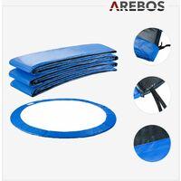 AREBOS 305 cm Coussin de Protection Pour Trampoline + Filet Pour 8 Tiges - Bleu
