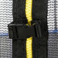 Arebos 490 cm Coussin de protection pour trampoline + filet pour 6 tiges - bleu