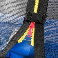 Arebos 490 cm Coussin de protection pour trampoline + filet pour 8 tiges - bleu