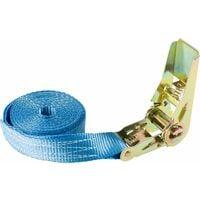 10x Arebos Sangle d'Arrimage à cliquet 800 kg, 4 m - bleu