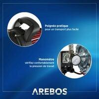 AREBOS Station Pompe Domestique Pompe d'arrosage 3500 l/h 1000W avec Surpresseur - Rouge