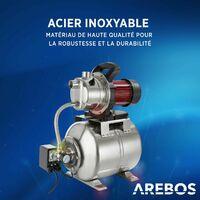 AREBOS Réseaux Domestiques D'eau Argent Acier Inoxydable 230 V / 50 Hz / 1200 W - Argent