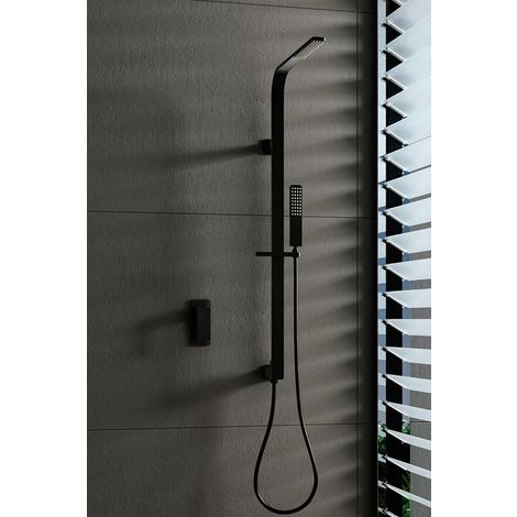 Barra de ducha empotrada negro mate Serie Bahamas - IMEX