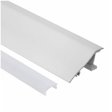 Profilé LED de corniche - Série V40 - 1,5 mètre - Aluminium blanc - Diffuseur opaque - Blanc