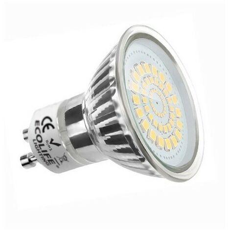 Blanc Chaud - Ampoule/spot LED - GU10 - 3,5 W - SMD Epistar - Ecolife Lighting® - Blanc Chaud
