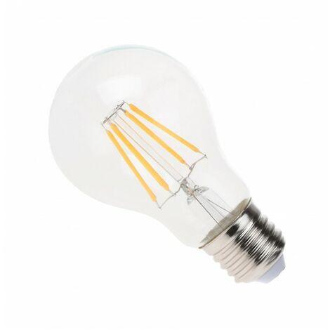 Blanc Chaud - Ampoule filament LED Transparent - E27 - A60 - 4 W - SMD Epistar - Ecolife Lighting® - Blanc Chaud