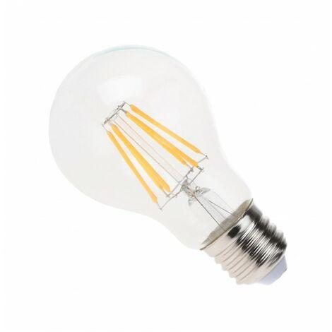 Blanc Chaud - Ampoule filament LED Transparent - E27 - A60 - 6 W - SMD Epistar - Ecolife Lighting® - Blanc Chaud