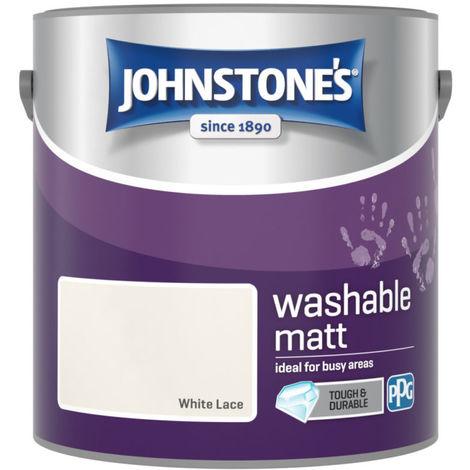 Johnstones Washable Matt Emulsion White Lace 2.5 Litre