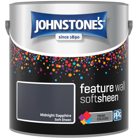 Johnstones Feature Wall Interior Soft Sheen Emulsion Midnight Sapphire 2.5 Litre
