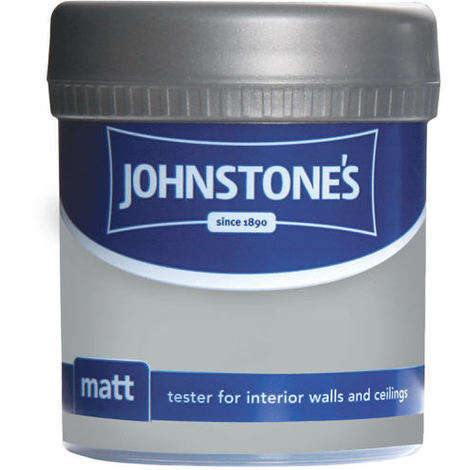 Johnstones Vinyl Matt Emulsion Tester Pot Manhattan Grey 75ml