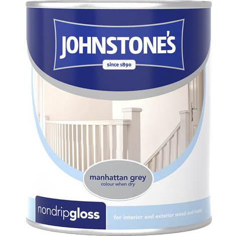 Johnstones Non Drip Gloss Manhattan Grey 750ml