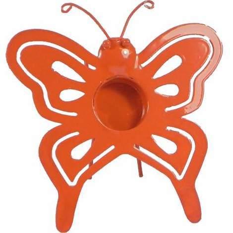 Butterfly Tealight Holder Yellow