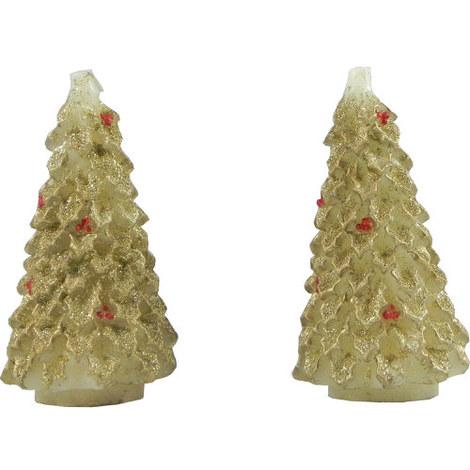 Christmas Tree Candles Set of 2