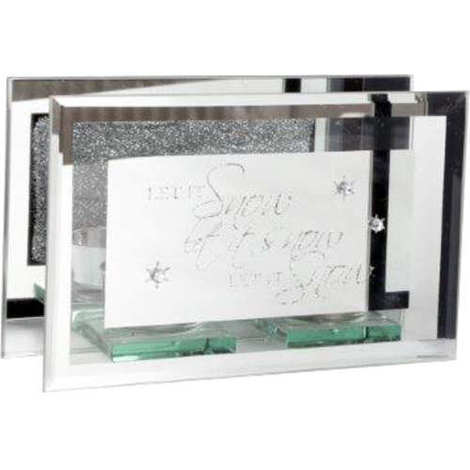 Mirrored Tealight Holder - Have Yourself A Merry Little Christmas