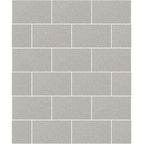 Crown Wallcoverings London Glitter Tile Wallpaper Grey M1123 - Full Roll