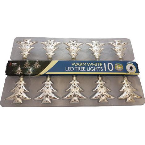 Warm White LED Christmas Tree Lights Set of 10 Trees
