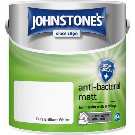 Johnstones Anti-Bacterial Matt Paint Brilliant White 2.5L