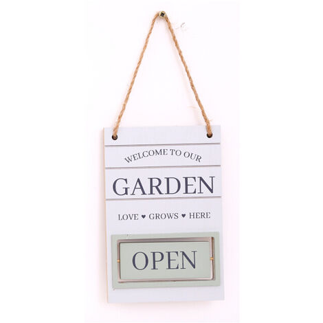 Hanging Garden Decoration Plaque White