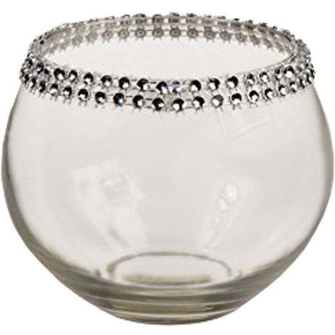 Glass Jewelled tealight Holder