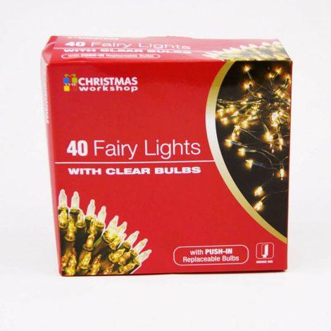 Fairy Lights with Clear Bulbs Set of 40