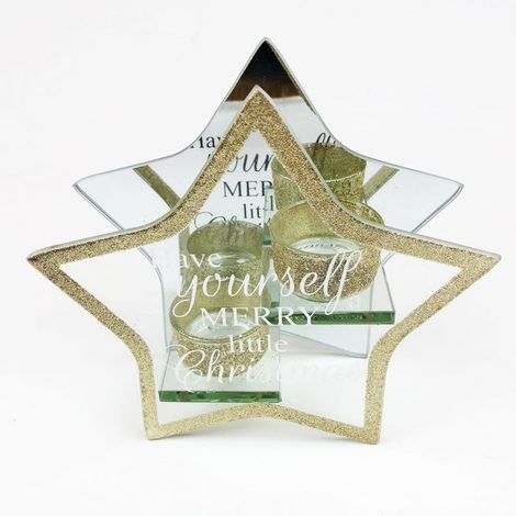 Star Christmas Tealight Holder Have Yourself A Merry Little Christmas