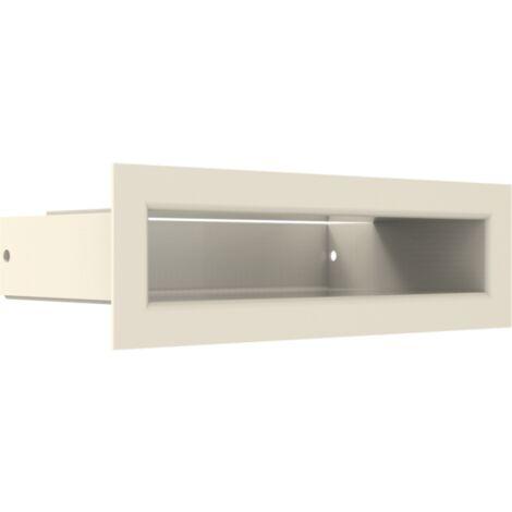 Luftleiste Luft-Schlitz mit Hinterblende Schwarz Ofen Kaminofen Kamin Heizeinsatz Auswahl Gr/ö/ße 6x40