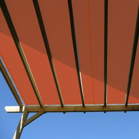 Toile d'ombrage imperméable de 4x4m à tendre sur structure pergola   Terracotta