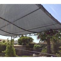 Toile d'ombrage perméable de 6x4m à tendre sur structure pergola   Gris Platine