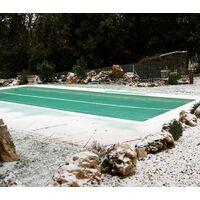 Filet anti-feuilles piscine avec 50 connecteurs (œillets clipsables)   Taille Filet: 4 x 8 m