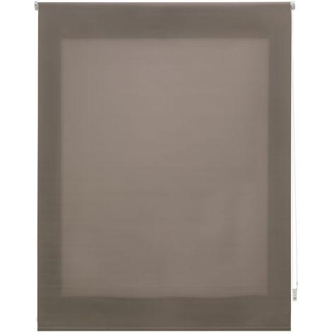 Estor enrollable traslúcido liso topo 180x250 cm (ancho x alto)