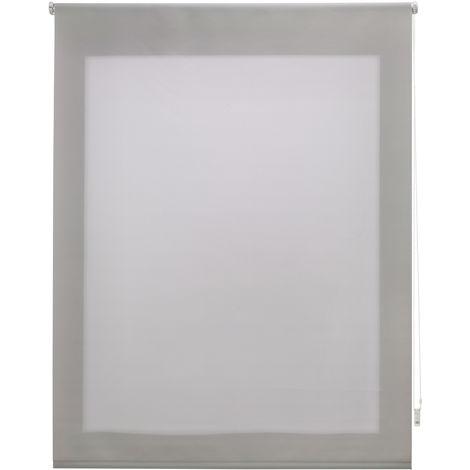 Estor enrollable traslúcido liso plateado 120x250 cm (ancho x alto)